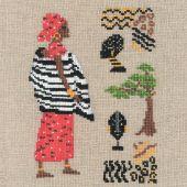 Kit point de croix - Le Bonheur des Dames - Africaine en rouge