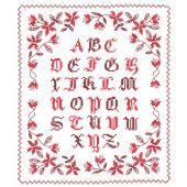 Kit point de croix - Le Bonheur des Dames - Abécédaire rouge