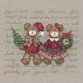 Kit point de croix - Le Bonheur des Dames - Couple ours joyeux