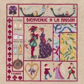 Kit point de croix - Le Bonheur des Dames - Bienvenue - Février