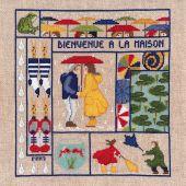 Kit point de croix - Le Bonheur des Dames - Bienvenue - Mars