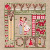 Kit point de croix - Le Bonheur des Dames - Bienvenue - Juin