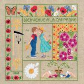 Kit point de croix - Le Bonheur des Dames - Bienvenue - Août