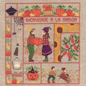 Kit point de croix - Le Bonheur des Dames - Bienvenue - Octobre