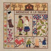 Kit point de croix - Le Bonheur des Dames - Bienvenue - Novembre