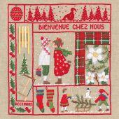 Kit point de croix - Le Bonheur des Dames - Bienvenue - Décembre