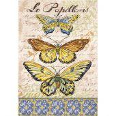 Kit point de croix - Letistitch - Papillons vintage 1