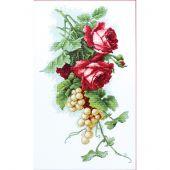 Kit point de croix - Luca-S - Roses rouges et grappes de raisin