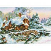 Kit point de croix - Luca-S - Paysage d'hiver