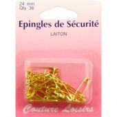 Epingles - Couture loisirs - Epingles de sûreté dorés - 24 mm