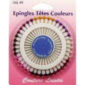 Epingles - Couture loisirs - Epingles tête de couleurs