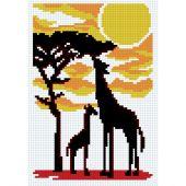 Kit point de croix - Luc Créations - Girafes