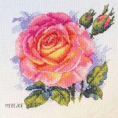 Kit point de croix - Merejka - Rose