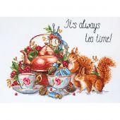 Kit point de croix - Merejka - C'est toujours l'heure du thé !