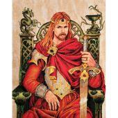 Kit point de croix avec perles - Nimuë fée main - Roi Arthur