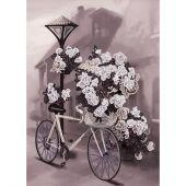 Kit de broderie avec perles - Nova Sloboda - Vélo fleuri