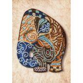 Kit de broderie avec perles - Nova Sloboda - Eléphant indien