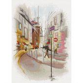 Kit point de croix - Nova Sloboda - Ville en aquarelle