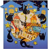 Kit de pendule à broder - Nova Sloboda - Maison de chat
