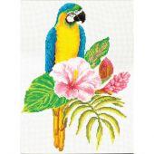 Kit point de croix - Ladybird - Ara hibiscus