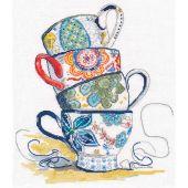 Kit point de croix - Oven - Collection de thé