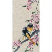 Kit point de croix - Oven - Oiseaux sur une branche de cerisier