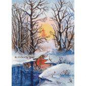 Kit point de croix - Oven - Ruisseau d'hiver