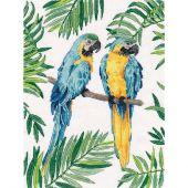 Kit point de croix - Oven - Macaos bleu et jaune