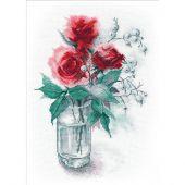 Kit point de croix - Oven - Roses et symphorines