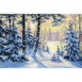 Kit point de croix - Oven - Forêt d'hiver