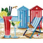 Kit point de croix - Luc Créations - La vie à la plage
