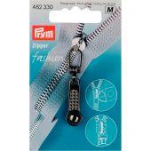 Tirette pour fermeture - Prym - Fashion zipper - boule argent