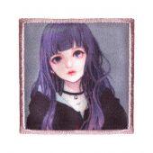 Ecusson thermocollant - Prym - K-Pop Label - Fille cheveux violets