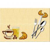 Kit de set de table à broder - Luc Créations - Petit déjeuner