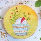 Kit de broderie sur tambour - Tamar Nahir Yanai - Doux rêves