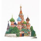 Kit point de croix - Théa Gouverneur - Cathédrale Saint- Basile - Moscou