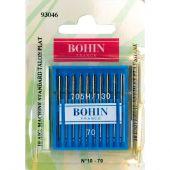 Aiguilles machine à coudre - Bohin - 10 Aiguilles standard n°70/10