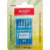 Aiguilles machine à coudre - Bohin - 5 aiguilles cuir