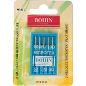 Aiguilles machine à coudre - Bohin - 5 aiguilles Microtex 60/70/80