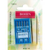 Aiguilles machine à coudre - Bohin - 5 aiguilles fil métallisé 80/90