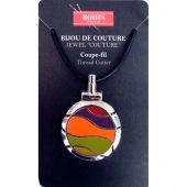 Coupe-fil - Bohin - Pendentif - orange/violet/vert