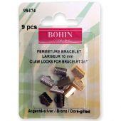 Support bijoux - Bohin - 9 fermetures pour bracelets - 10 mm
