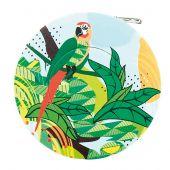 Mètre enrouleur - Bohin - Centimètre couture jungle - Perroquet vert