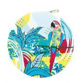Mètre enrouleur - Bohin - Centimètre couture jungle - Perroquet bleu