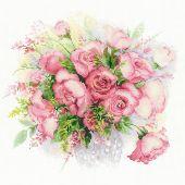 Kit point de croix - Riolis - Aquarelle de roses