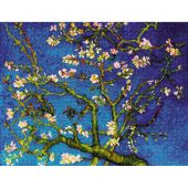 Kit point de croix - Riolis - Amandier en fleurs d'après Van Gogh
