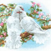 Kit point de croix - Riolis - Colombes blanches