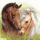 Kit point de croix - Riolis - Couple de chevaux
