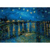 Kit point de croix - Riolis - Nuit étoilée sur le Rhône - Van Gogh
