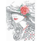 Kit point de croix - Riolis - Rose mystérieuse